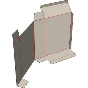 Картонная коробка на 1 точку, симметричная.