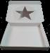 Подарочная картонная коробка 165х150х30, с ушками, с вклеенным пластиковым окном