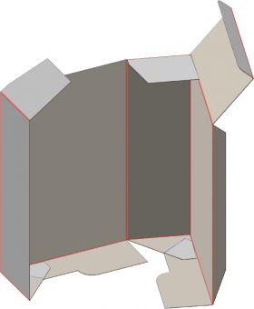 Картонная коробка на 3 точки