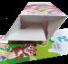 Картонная коробка для детских трубочке. Коробка-домик.